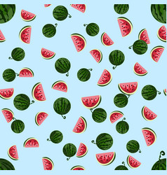 cute seamless pattern with watermelons vector image vector image