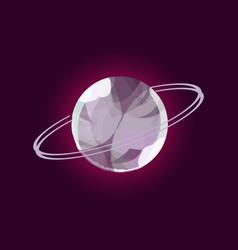 fantasy planet logo vector image vector image