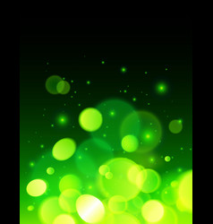 Green abstract bokeh effect background vector image vector image