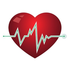 Icon heart with pulse graph vector image vector image