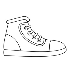 Sneaker icon outline style vector image vector image