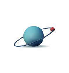3d atom vector image