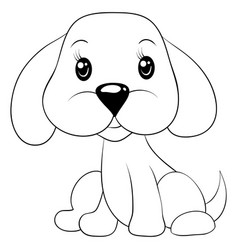 a children coloring bookpage a cartoon dog image vector image