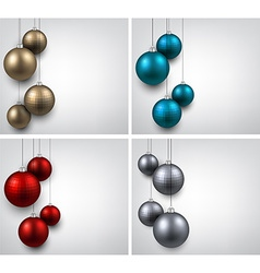 Backgrounds with colorful christmas balls vector image