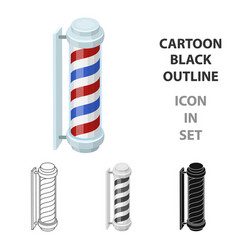 barber logobarbershop single icon in cartoon vector image