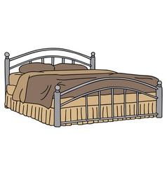 Big bed vector image