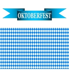 Blue ribbon with the words Oktoberfest vector