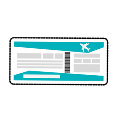 boarding pass or plane ticket icon image vector image
