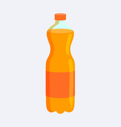 bottle with fzzy beverage vector image