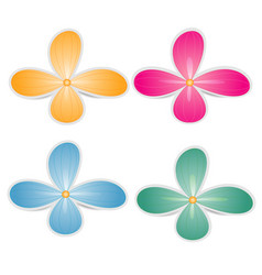 bright colored paper flowers on a white background vector image