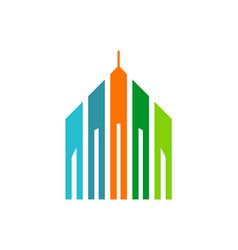 Building architecture colored logo vector