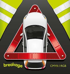 Car and Breakdown Triangle vector image