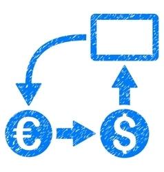 Cashflow Euro Exchange Grainy Texture Icon vector image