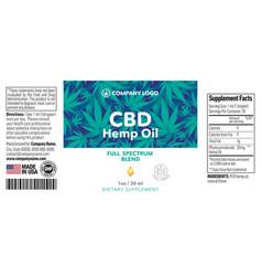 cbd oil bottle label template design vector image