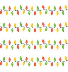 christmas lights festive decorations vector image