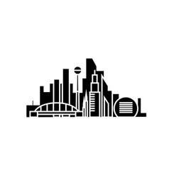 city skyblack black icon concept city skyblack vector image