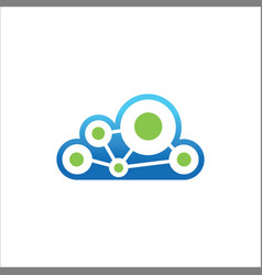 cloud technology connect logo vector image