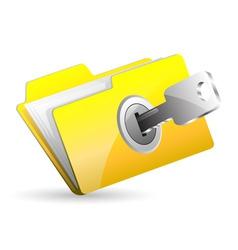 computer folder vector image