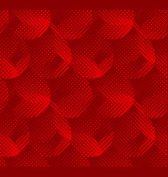 concept round red geometric seamless pattern vector image