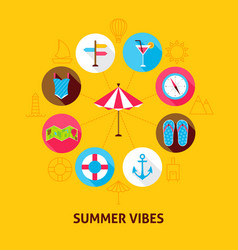 Concept summer vibes vector