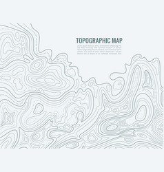 contour line map elevation contouring outline vector image