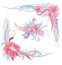 Creative Romantic Floral Ornaments vector image