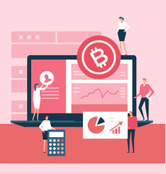 cryptocurrency - flat design style vector image