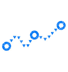 Dotted chart grunge icon vector