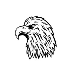 eagle head in engraving style design element vector image