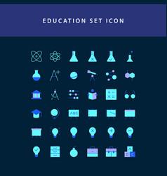 education flat style design icon set vector image