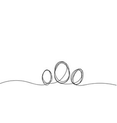 eggs line art continuous one line drawing vector image