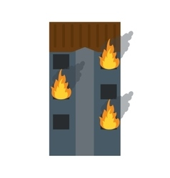 Fire building residential emergency vector