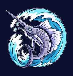 fishseadeyasaok vector image