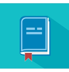 front view blank book vector image