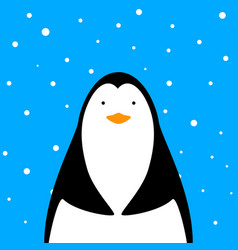 funny cute penguin vector image