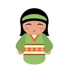 geisha cartoon avatar vector image