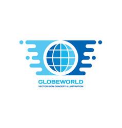 globe world - logo template concept vector image