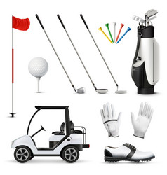 Golf realistic set vector