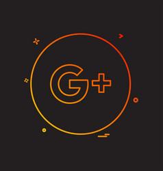 Google plus icon design vector