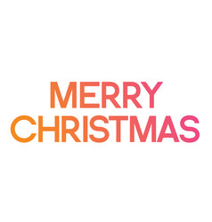 Gradient pink to orange serif front word merry vector