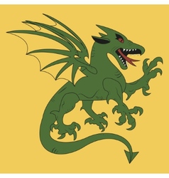green dragon coat of arms vector image