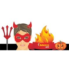 Halloween hot party vector