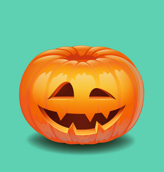 halloween pumpkin face - creepy smile jack o vector image
