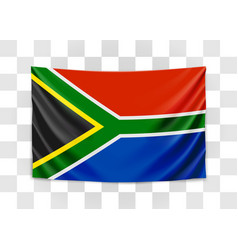 hanging flag south africa republic south vector image