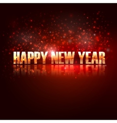 happy new year holiday background with golden text vector image