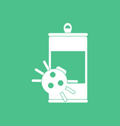 Icon canned and spider vector