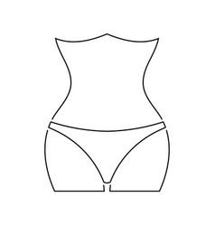 icon of slim waist vector image