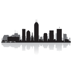 Indianapolis USA city skyline silhouette vector