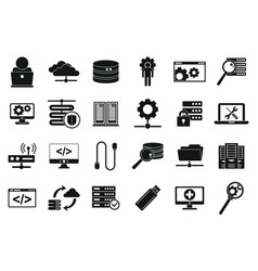 It administrator icons set simple style vector