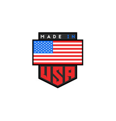 Made in usa logo design american quality vector
